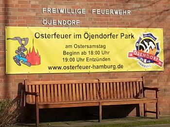 Öjendorfer Osterfeuer im Öjendorfer Park.